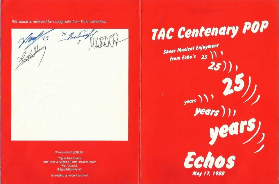 TAC 100. kuruluş yılı kutlamalarında ECHO grubu